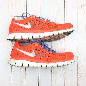 Nike Shoes - Nike Flex Run 2013 Neon Orange Blue Sneakers